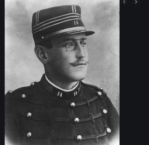 Alfred Dreyfus gets transported to the devils island