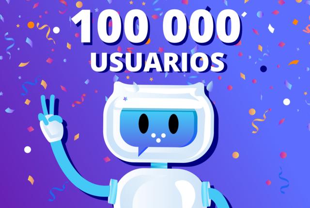 100000 usuarios
