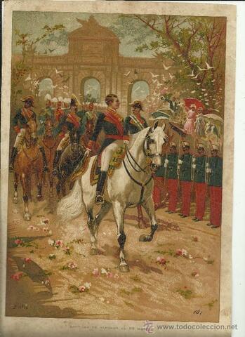 Alfonso XII entra en Madrid.