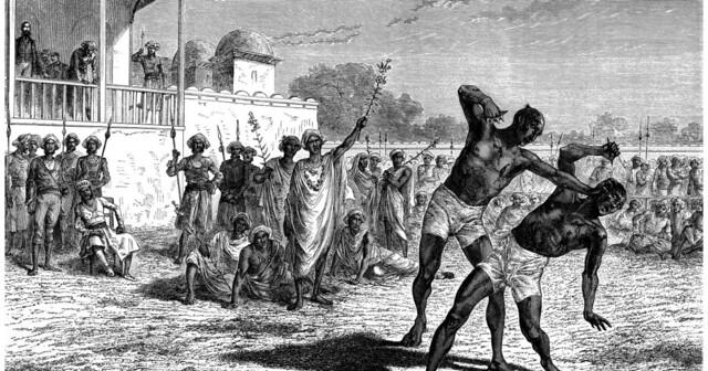 De første Olympiske leker blir avholdt i Olympia i Hellas