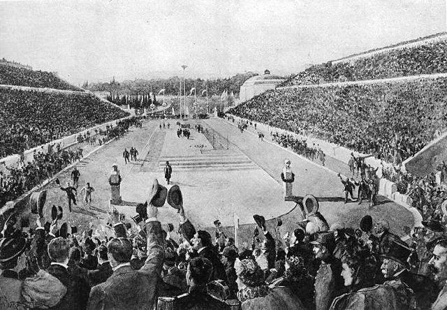 De første moderne Olympiske leker blir avholdt i Athen
