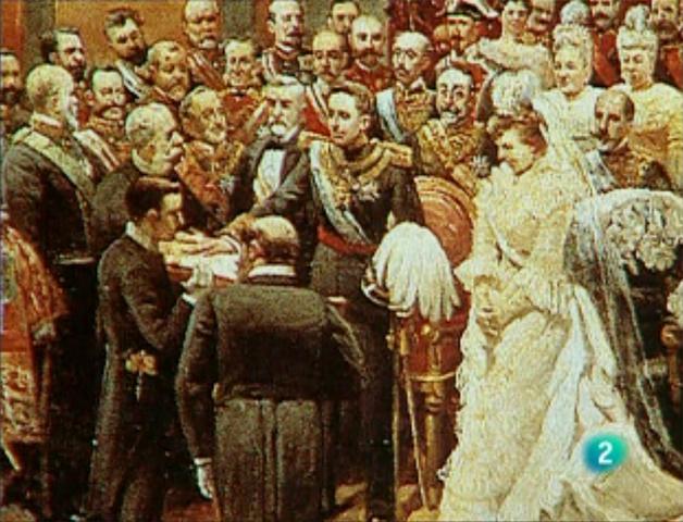 Mayoría de edad de Alfonso XIII.