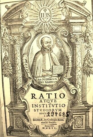"""Publicación oficial del """"Ratio studiorum"""""""