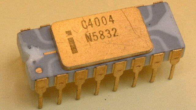 Invención del primer microprocesador