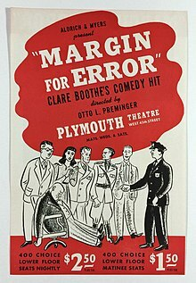"""Margin For Error"" by Clare Boothe Luce"