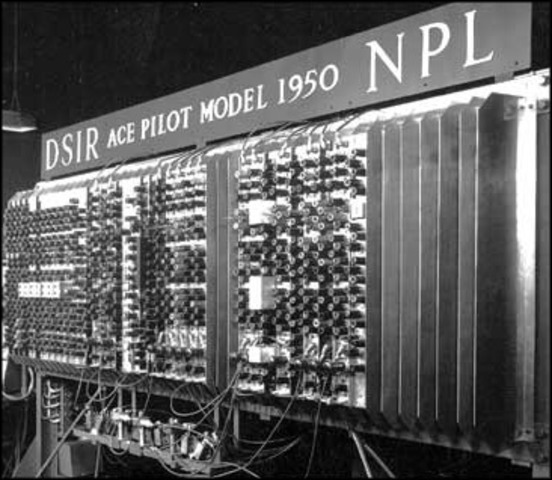 Donald Watts Davies joins Alan Turing to build the fastest digital computer in England at the time, the Pilot ACE