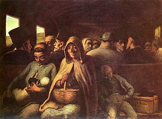 El vagón de tercera clase (Honoré Daumier)