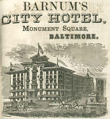 EL CITY HOTEL DE BALTIMORE (BARNUM´S)