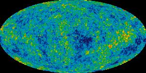 Radiación del Fondo Cósmico de Microondas.