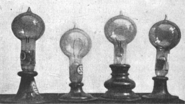 Edison Files a Patent for the Light Bulb