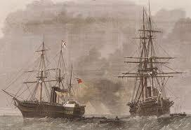The Trent affair commences when a Union warship stops a British ship on the high seas and takes two Confederate agents into custody.