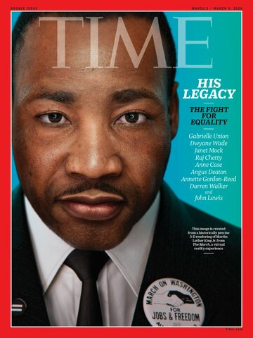 King appears on the cover of a Time Magazine!