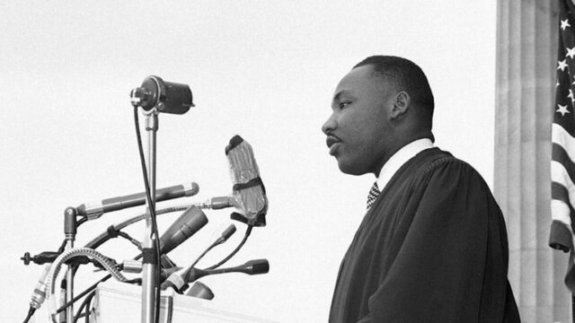 """King delivers his first national address, """"Give Us The Ballot."""""""