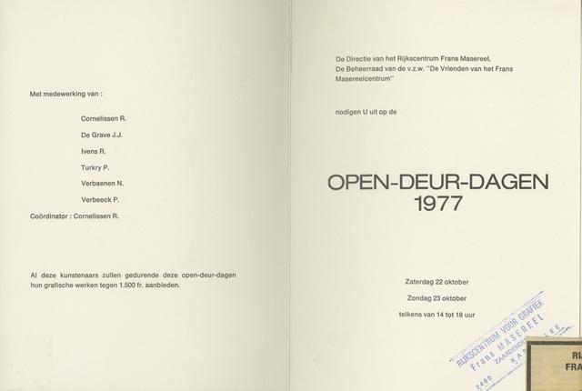 Opendeurdagen 1977