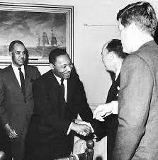 King meets with John F. Kennedy!