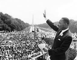 """King delivers his """"I Have a Dream"""" speech."""