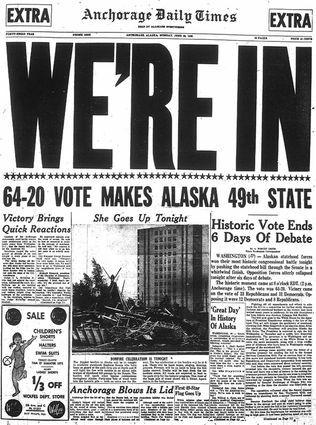 Alaska became a state in America