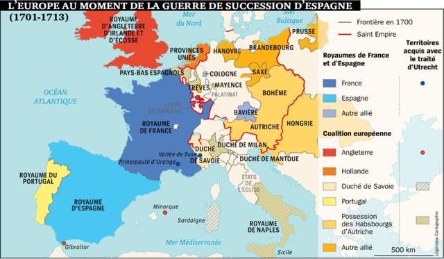 Début de la guerre de Succesion d'Espagne
