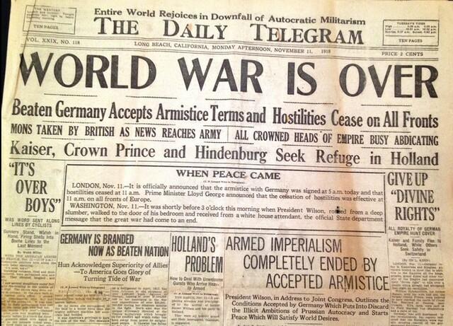 End of World War l