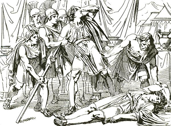Discusión y muerte de Clito