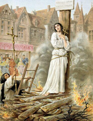 Jeanne d´Arc põletati tuleriidal