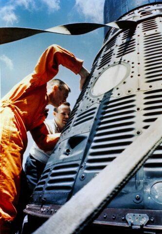 Kennedy Congratulates Alan Shepard