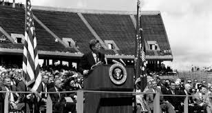 Kennedy Makes Commitment to Moon Landing