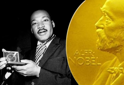 King receives the Nobel Peace Prize!