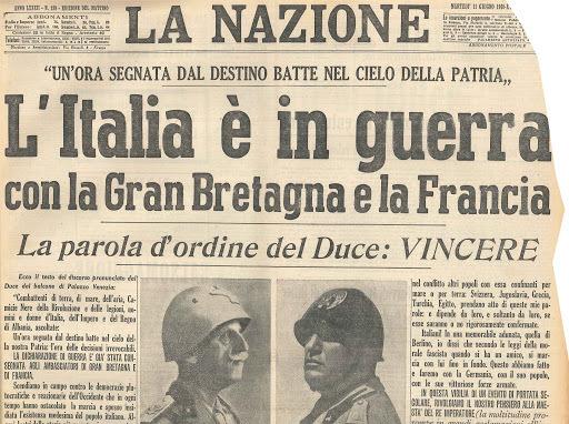 L'entrata in guerra dell'Italia