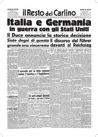 La Germania e l'Italia dichiarano guerra agli Stati Uniti