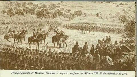 Pronunciamiento de Martínez Campos en Sagunto. (29 diciembre)