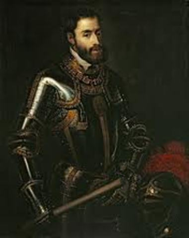 He becomes a physician for Charles V.