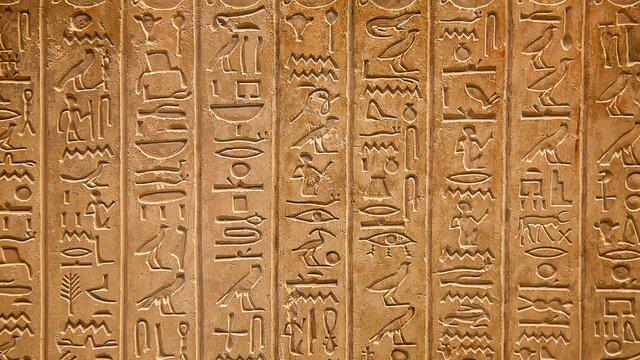 La escritura en Egipto.
