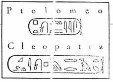 Interpretación de los glifos (Jean Francois Champollion)