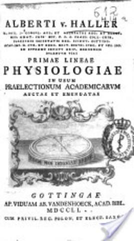 "Albrecht von Haller authors ""Primae lineae physiologiae"""