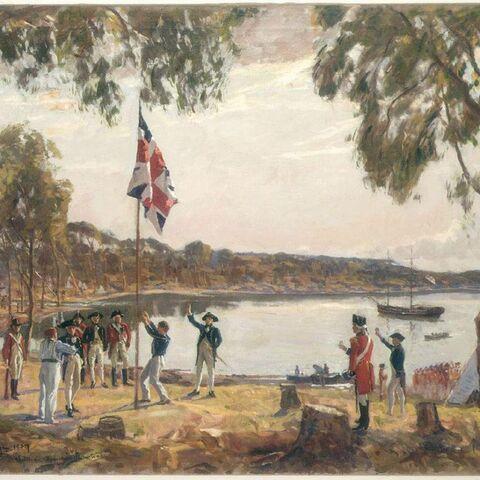 First fleet lands Sydney Cove