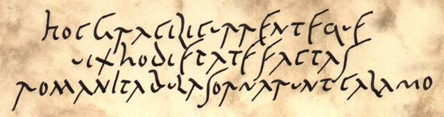La cursiva romana