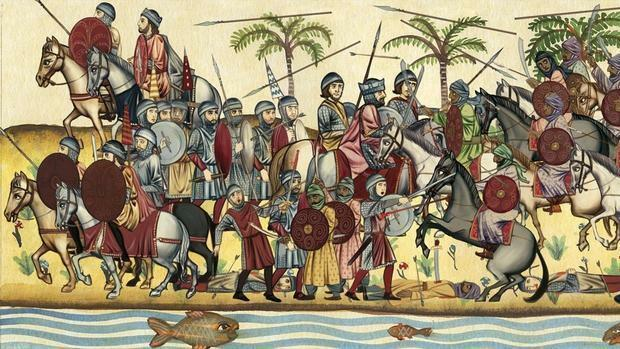 • L'arribada dels musulmans a la península ibèrica, l'any 711