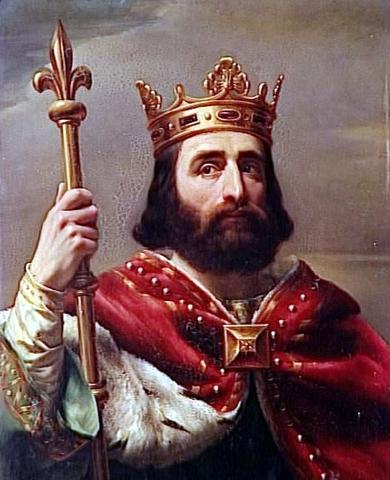 La coronació de l'emperador franc Carlemany, que va intentar reunir de nou l'Imperi Romà, l'any 800