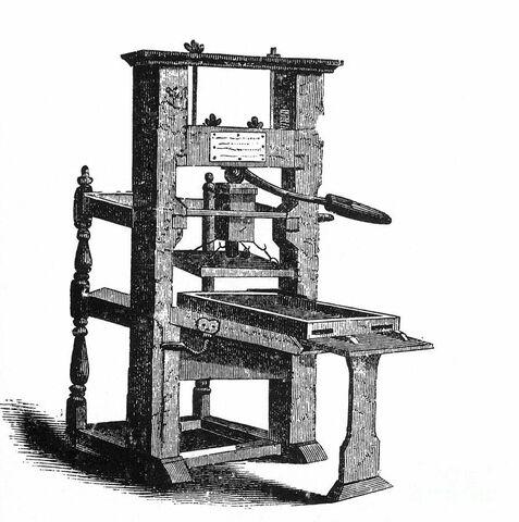 La presse de Gutenburg