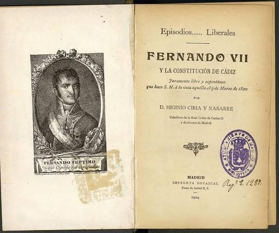 Restablecimiento de la constitución de Cádiz