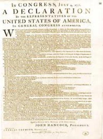 america declara la independencia