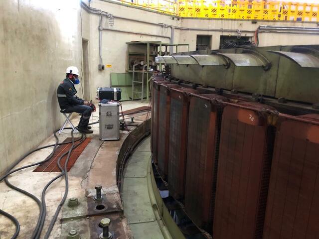 Ensaios elétricos iniciais do Rotor GP / Estator GA