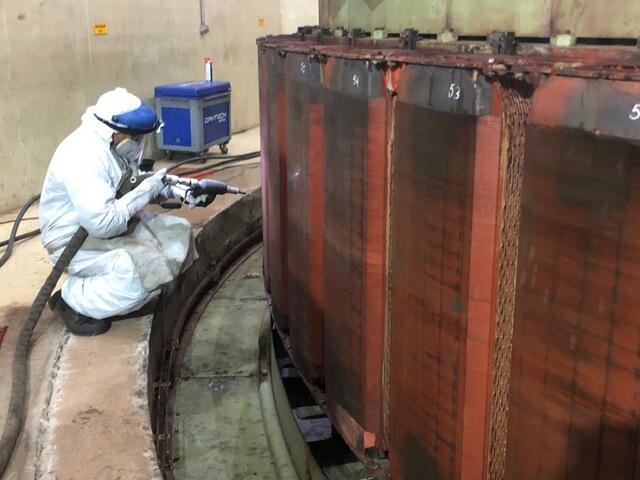 Limpeza do rotor GP c/ jateamento de gelo seco CO2