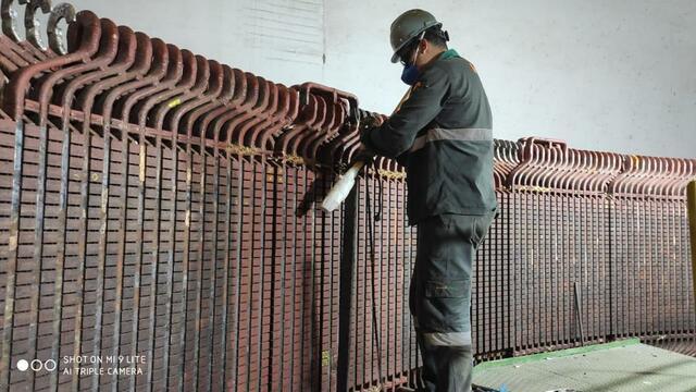 Remoção das barras roebel do estator do GP