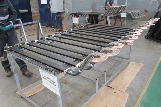 Reparo das 120 barras roebel em fábrica