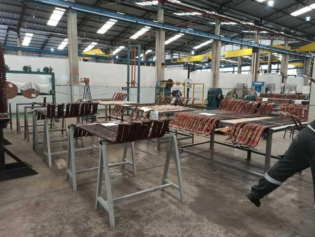 Reparo das 1152 barras roebel em fábrica