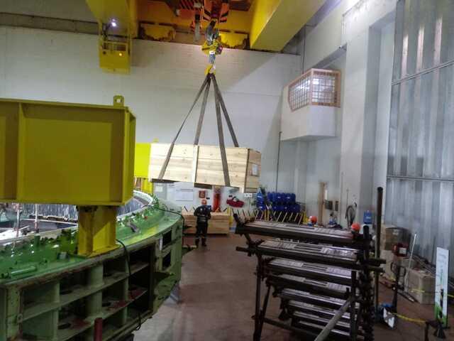 Recebimento de 307 barras roebel em planta UHE Volta Grande