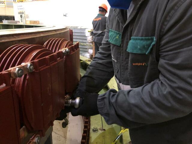 Montagem dos 60 polos do GA c/ instalação de cordoalhas flexíveis