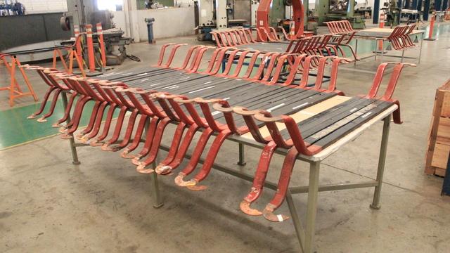 Reisolação de 37 barras em fábrica